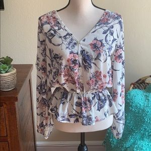 Boho inspired floral top